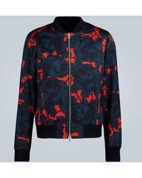 Dries Van Noten Chaqueta con estampado floral - Rojo