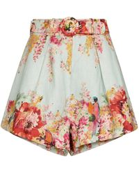 Zimmermann - Shorts Mae in lino con stampa floreale - Lyst