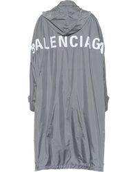 Balenciaga Opera Oversized Raincoat - Gray