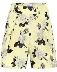 Erdem Shorts Howard a stampa in cotone - Giallo