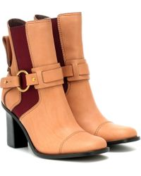 See By Chloé - Ankle Boots aus Leder - Lyst