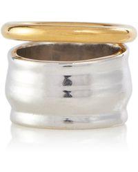 Loewe Stacked Sterling Silver Ring - Metallic