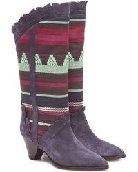Isabel Marant Leesta Stiefel aus nachtblauem Leder