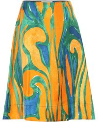 Marni Printed Silk Skirt - Multicolour