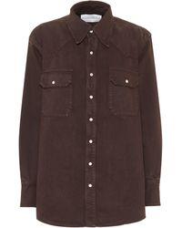 Matthew Adams Dolan Denim Shirt - Brown