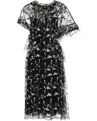 Simone Rocha Besticktes Kleid aus Tüll - Schwarz