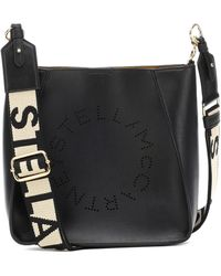Stella McCartney Bolso al hombro Stella Logo - Negro