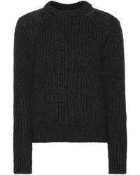 Saint Laurent Stretch Wool-blend Sweater - Black
