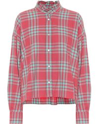 Étoile Isabel Marant Ilaria Checked Cotton Shirt - Red