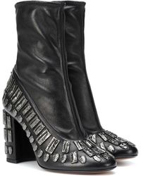 Samuele Failli - Exclusive To Mytheresa – Bea Embellished Leather Ankle Boots - Lyst