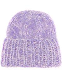 Ganni - Julliard Mohair And Wool Hat - Lyst