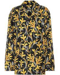 Versace Camicia a stampa in seta - Metallizzato