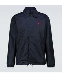 Polo Ralph Lauren Trainingsjacke aus Tech-Material - Blau
