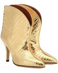 Paris Texas - Metallic Leather Ankle Boots - Lyst
