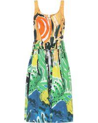 Marni Bedrucktes Kleid aus Baumwolle - Grün