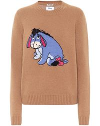 Miu Miu X Disney® Pullover aus Schurwolle - Braun