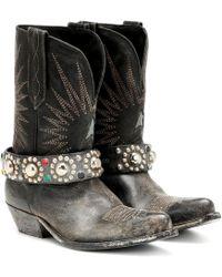 Golden Goose Deluxe Brand Stiefel Wish Star aus Leder - Schwarz