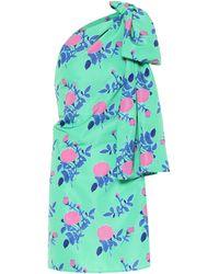 BERNADETTE Vestido Josselin de satén floral - Verde