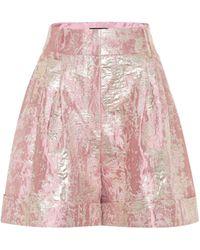 Dolce & Gabbana Shorts aus Brokat - Pink
