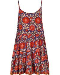 Velvet Mini-robe Tracy en coton à fleurs - Rouge
