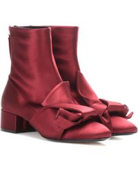 N°21 - Satin Ankle Boots - Lyst