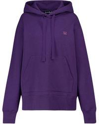 Acne Studios Cotton Jersey Hoodie - Purple