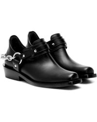 Paco Rabanne Moto Leather Ankle Boots - Black