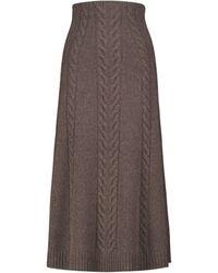 Jonathan Simkhai Gonna midi Jovie in maglia di misto lana - Marrone