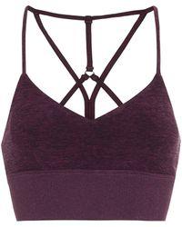 Alo Yoga Lush Sports Bra - Purple