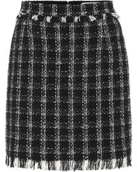 MSGM Minijupe en tweed - Noir
