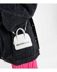 Balenciaga Sac Ville Mini en cuir - Blanc