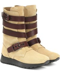 Loewe Suede And Leather Boots - Brown