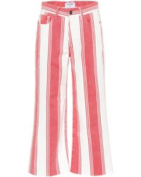FRAME Cropped Jeans aus Baumwolle - Rot