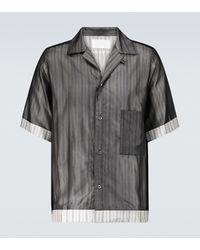 Maison Margiela - Pinstriped Short-sleeved Shirt - Lyst