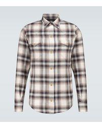 Alanui Cotton Flannel Checked Shirt - Natural