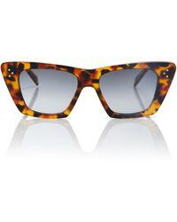 Celine Cat-Eye-Sonnenbrille - Braun