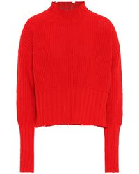 f8ad18bee0 On sale MSGM - Ribbed Wool-blend Sweater - Lyst