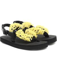 Cecilie Bahnsen X Suicoke Kat Embellished Sandals - Yellow
