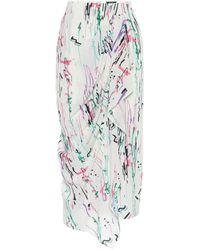 Isabel Marant Fabiana Stretch-silk Midi Skirt - Multicolour