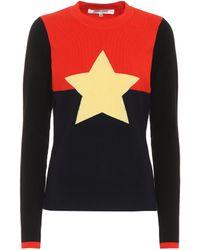 Diane von Furstenberg - Wool-blend Star Sweater - Lyst