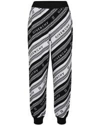 Givenchy Pantaloni in jacquard di lana - Nero