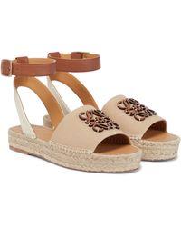 Loewe Paula's Ibiza Anagram Espadrille Sandals - Natural