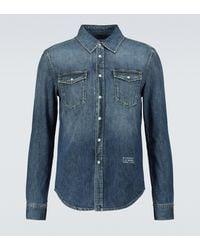 Givenchy Camisa de jeans - Azul