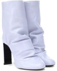Nicholas Kirkwood Ankle Boots D'Arcy 105 aus Leder - Blau