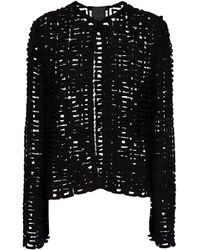 Givenchy Jacke 4G aus Guipure-Spitze - Schwarz