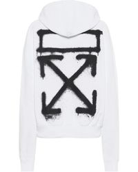 Off-White c/o Virgil Abloh Printed Cotton-jersey Hoodie - White
