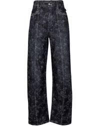 Chloé Floral High-rise Wide-leg Jeans - Gray