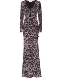Roberto Cavalli Leopard-printed Jersey Dress - Brown