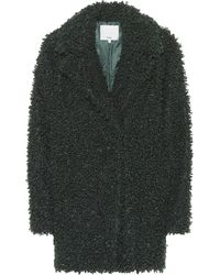 Tibi Faux Curly Shearling Coat - Green