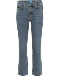 M.i.h Jeans Daily Crop High-rise Straight Jeans - Blue